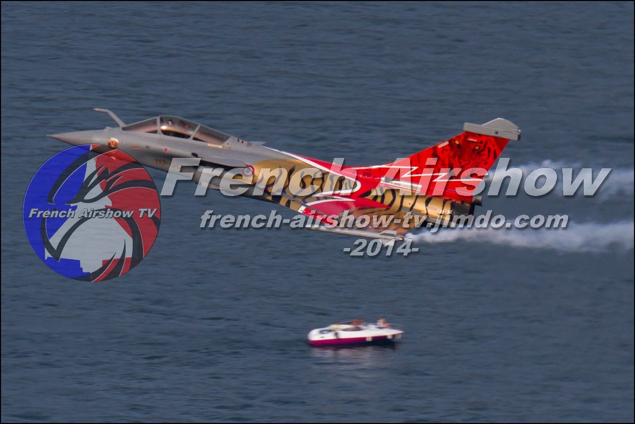 Rafale Solo Display , Rafale display , Meeting Aerien Aix les Bains 2014