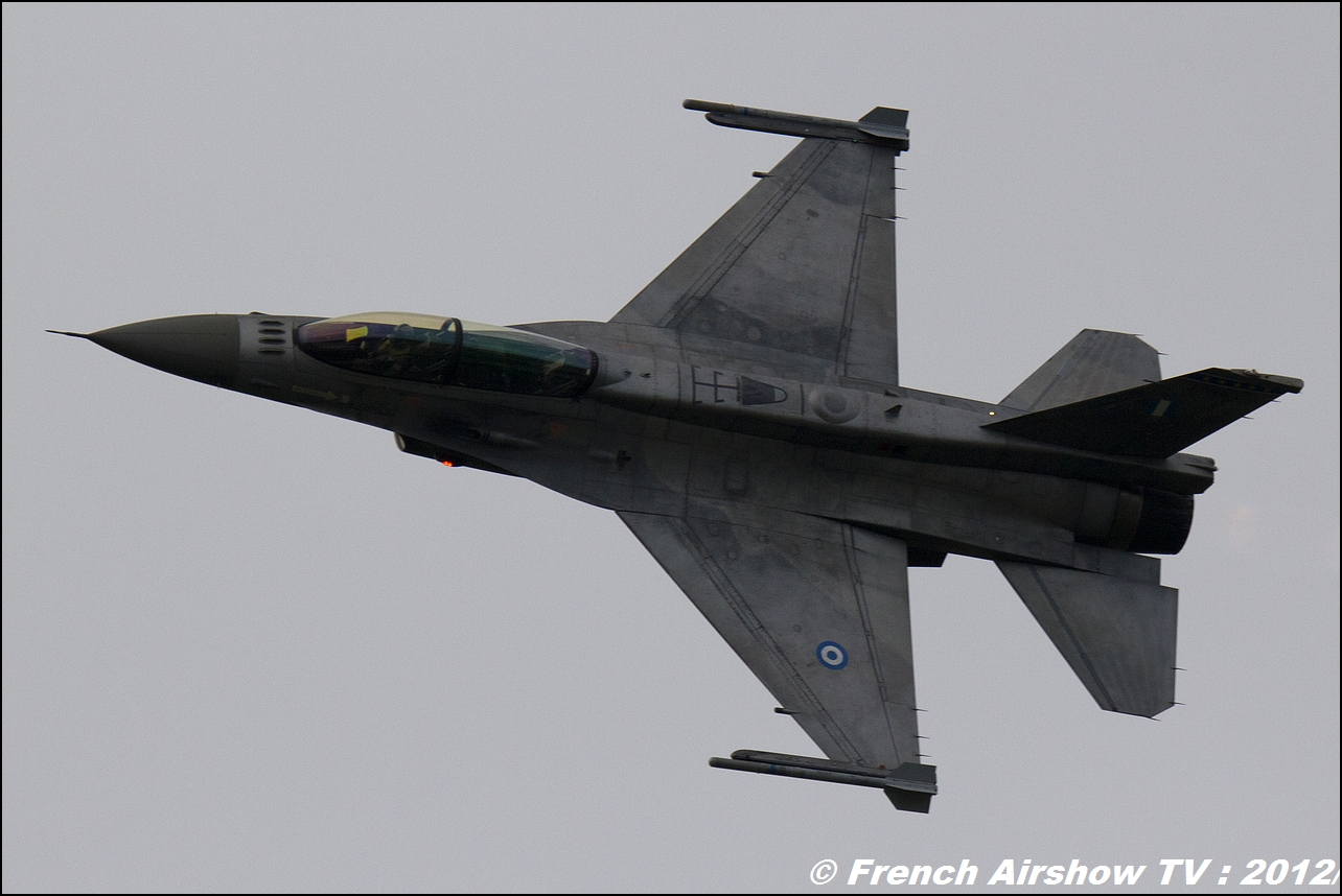 Hellenic Air Force F-16 Demo Team Zeus ZEUS displays HAF F-16C Block 52+, Florennes Airshow 2012